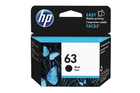 HP #63 DeskJet 2132 Black Ink Cartridge (Genuine) - Ink ...