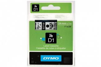 DYMO SD53710 Black on Transparent 24MM X 7M Tape (Genuine)
